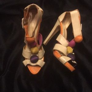 Charlotte Olympia haute couture tan sandal size 10